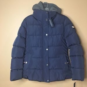Tommy Hilfiger Navy Blue Puffer Jacket Coat Small